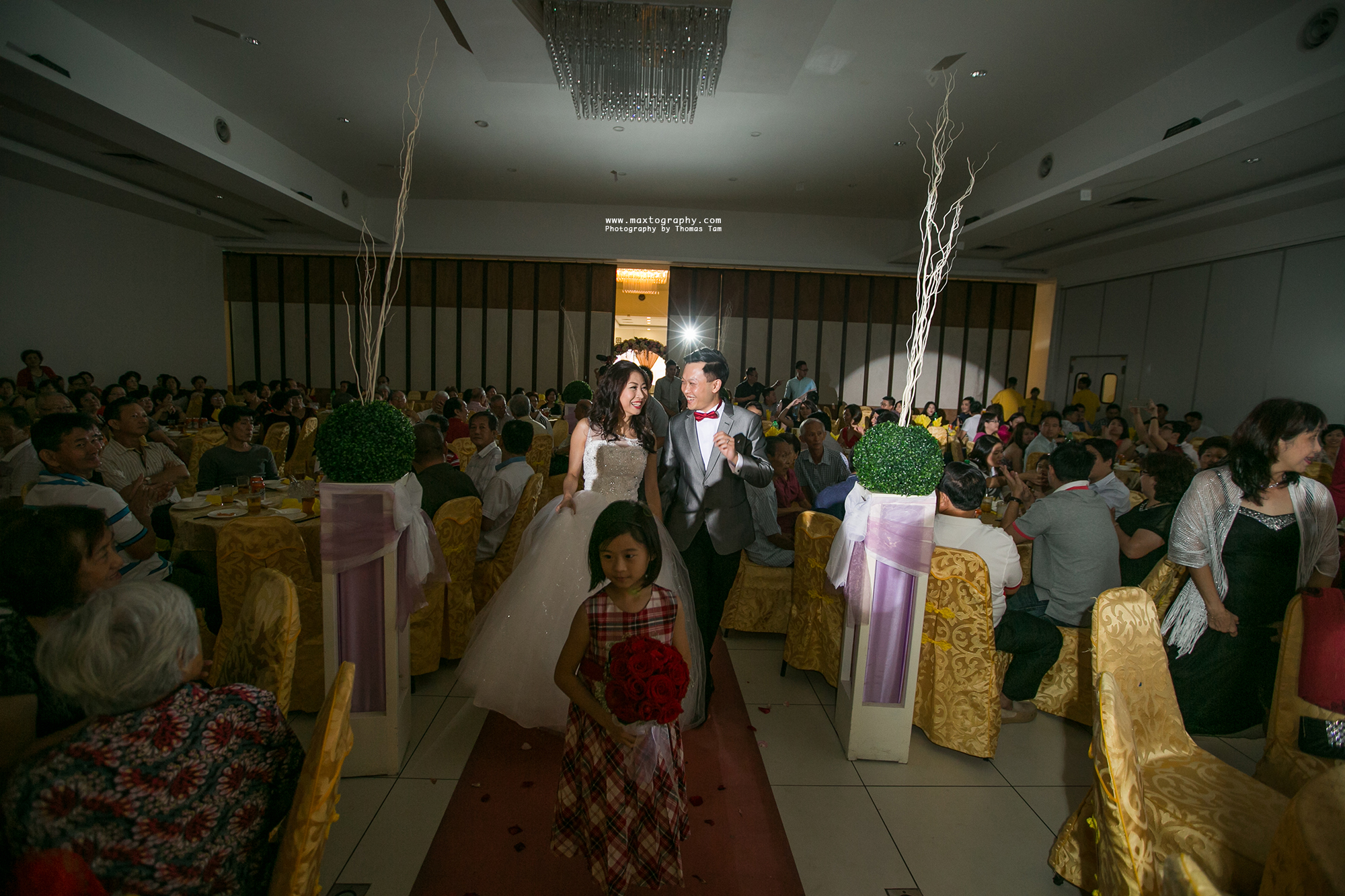 Bride and goom March-in ballroom