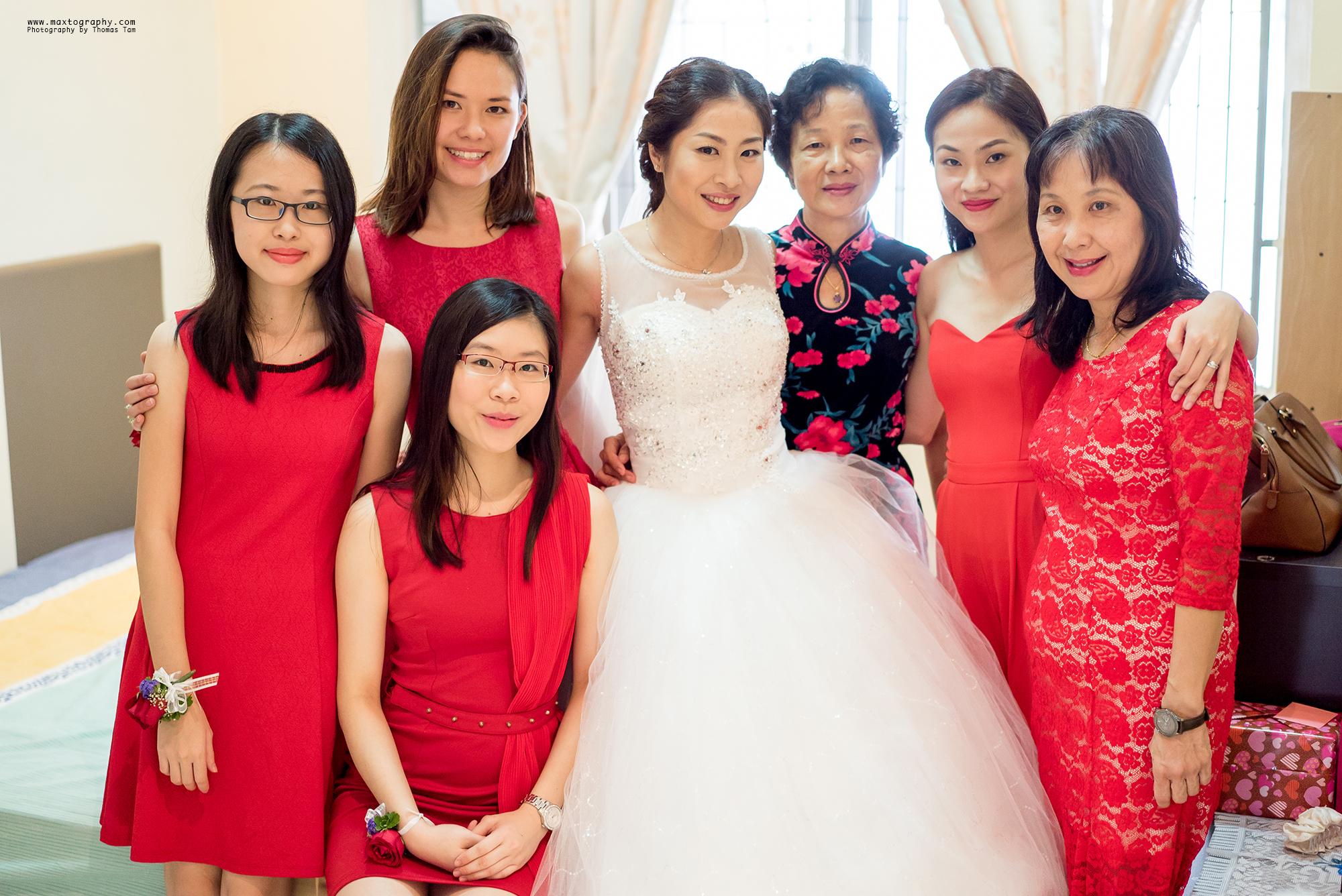 Bride family