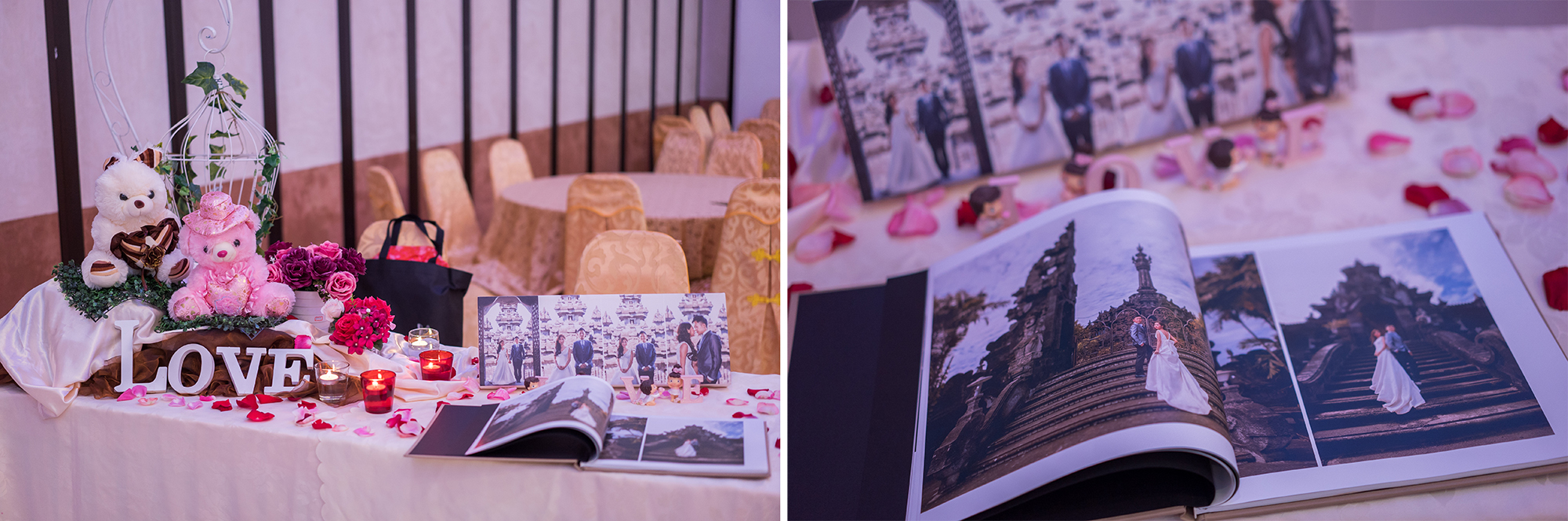 Reception deco & wedding album