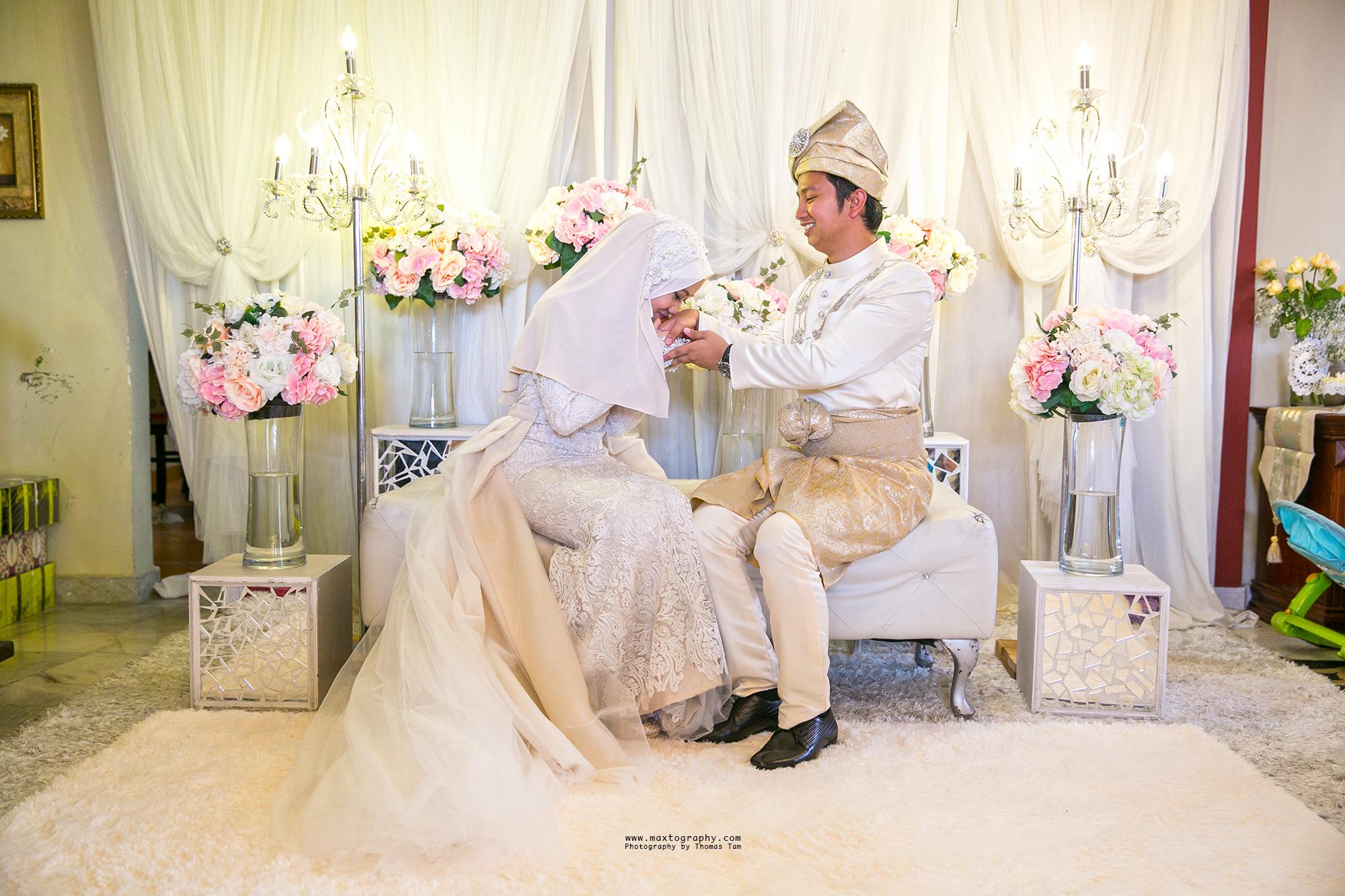 Bride greets groom