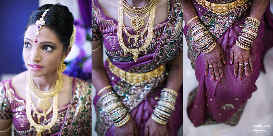 Bride portrait and gold accessories