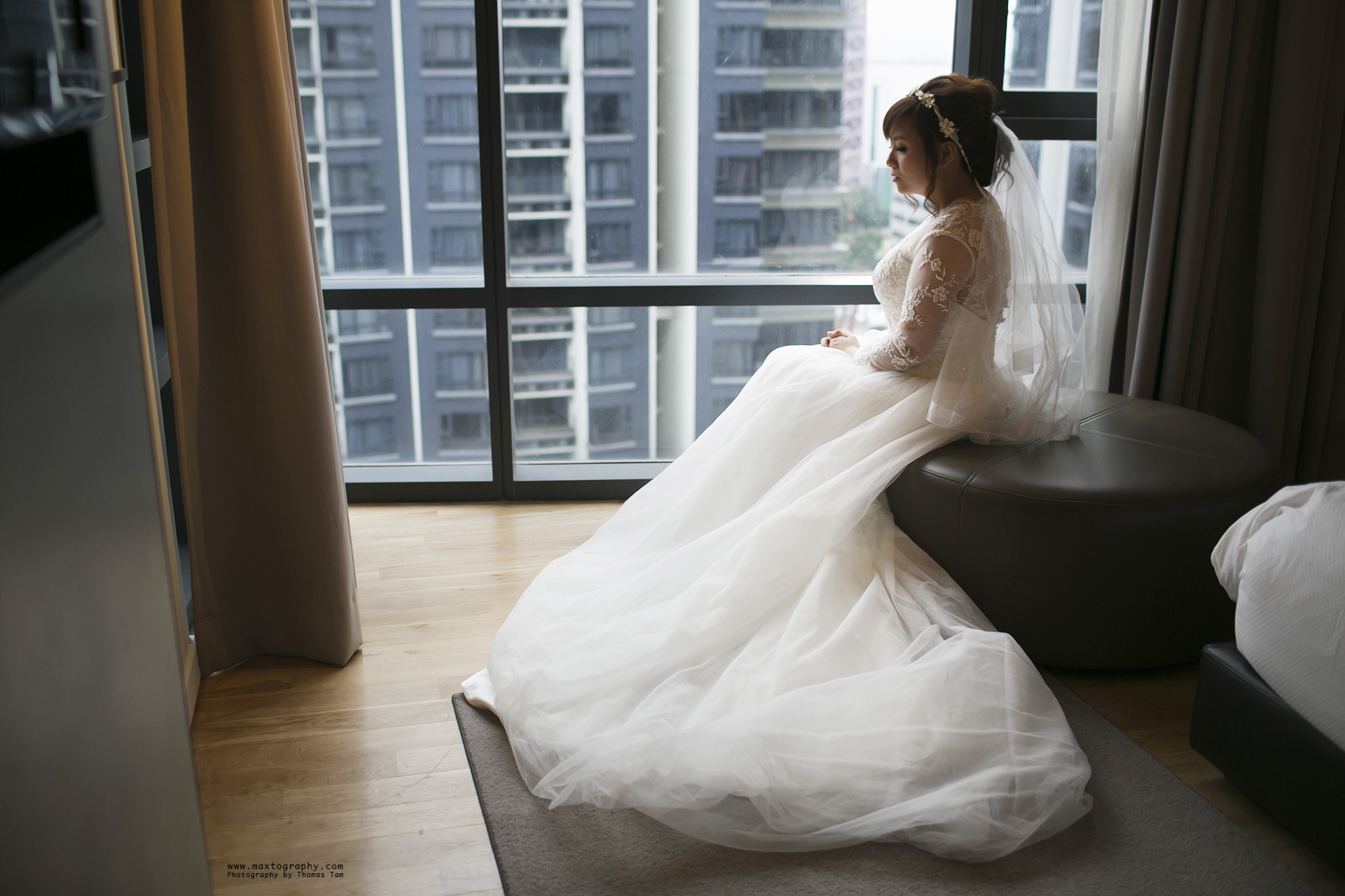 Bride with long gown