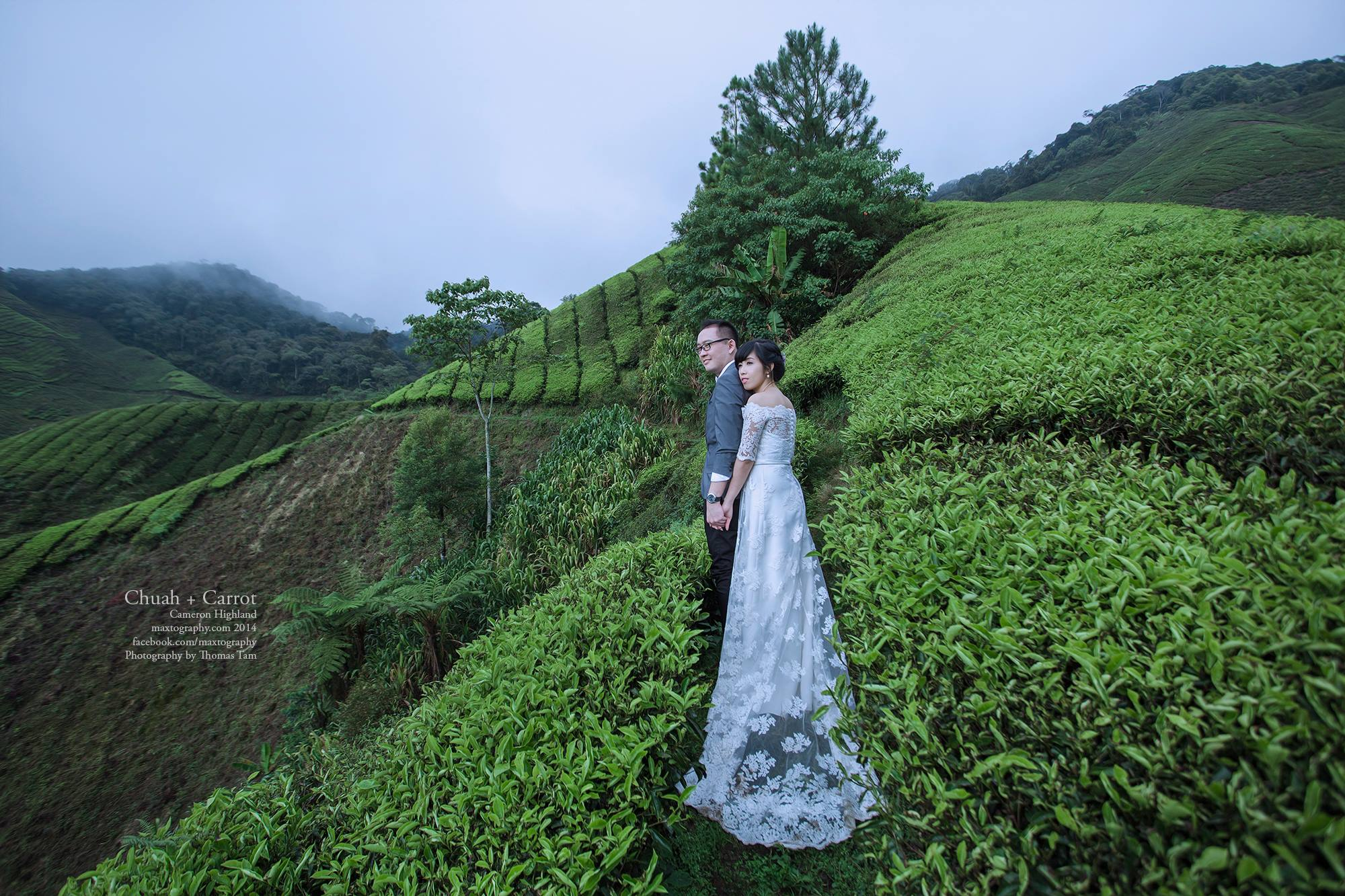 Couple at boh tea plantation Cameron Highland
