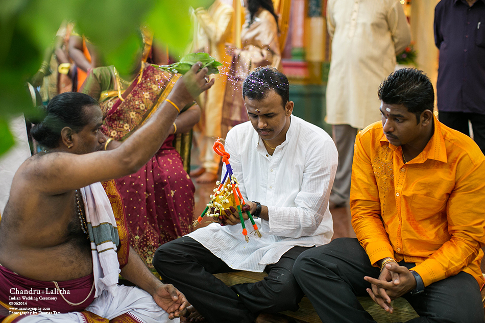 Groom in blessing