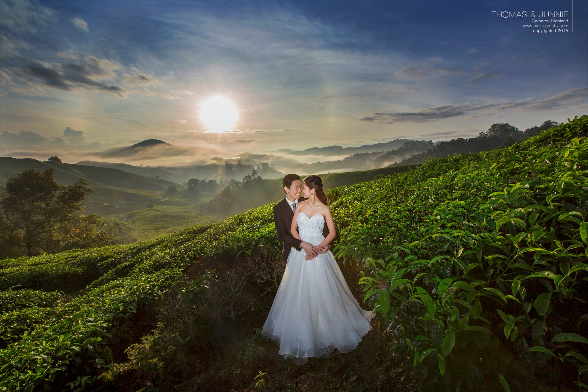Sunrise couple at Cameron Highland