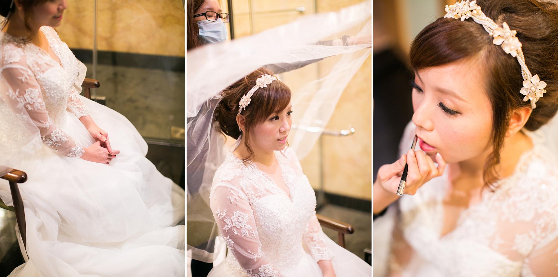 bride on veil