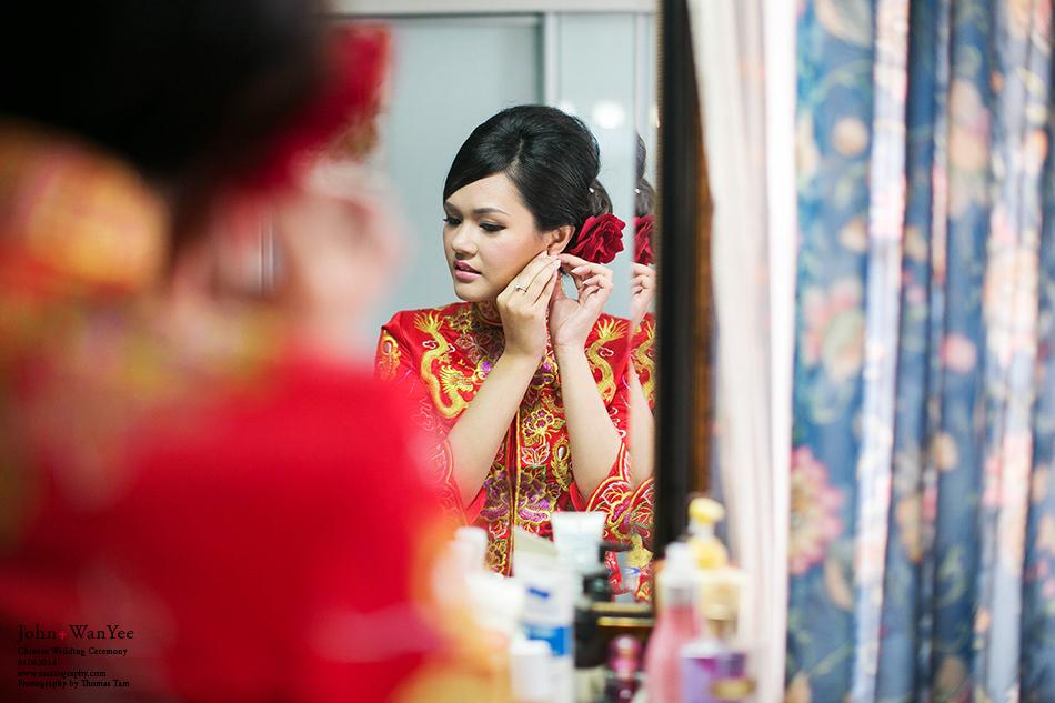 bride wearing earring