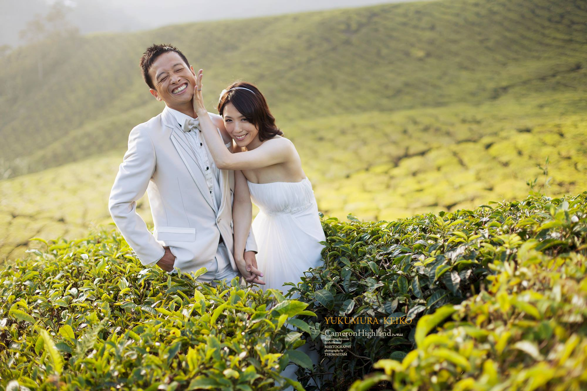 couple having fun at boh tea plantation Cameron Highland