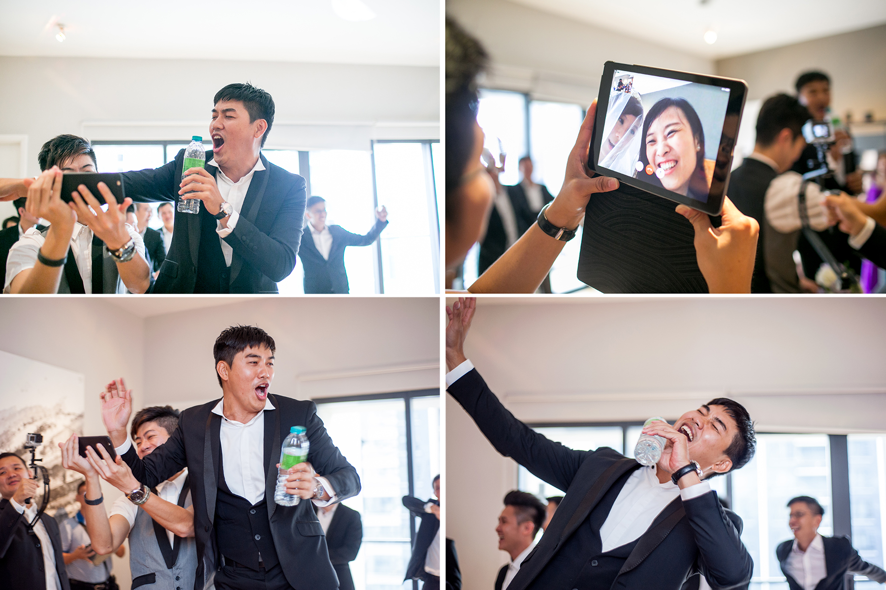 groom sing to bride