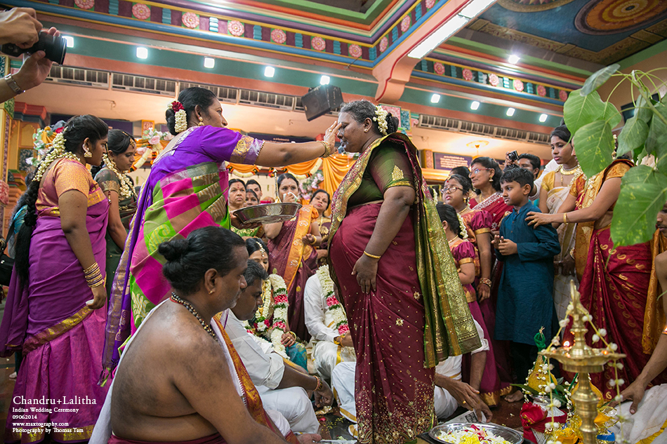 parents exchanging blessing