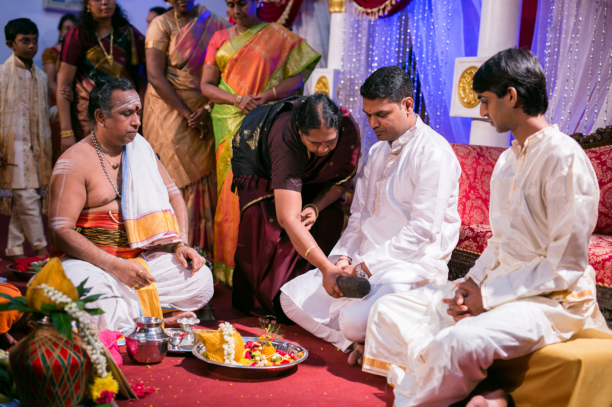 Blessing ceremony for groom