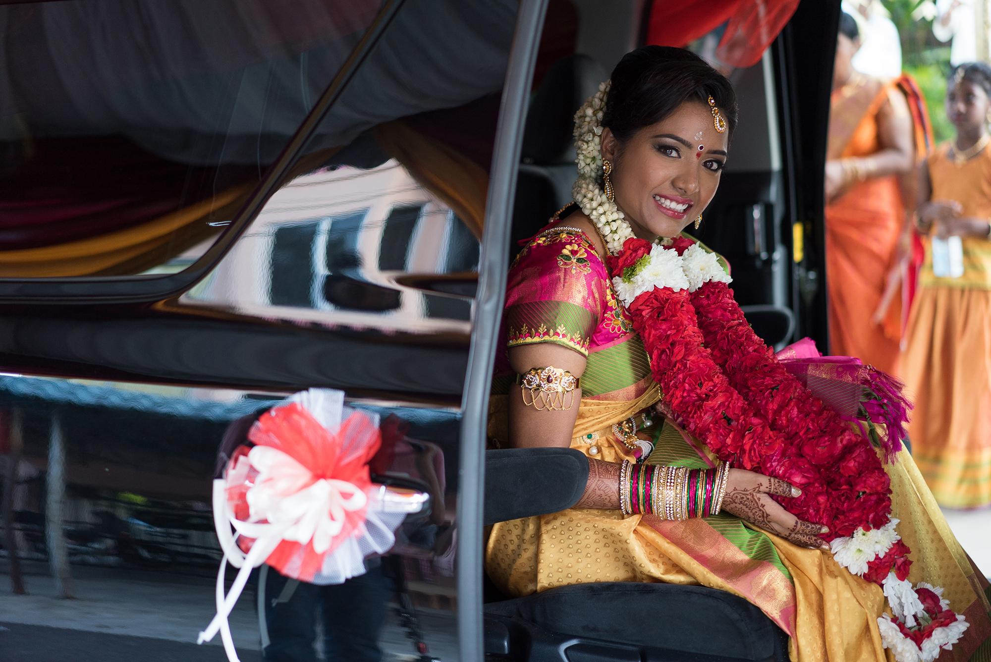 Bride smile looking at camera