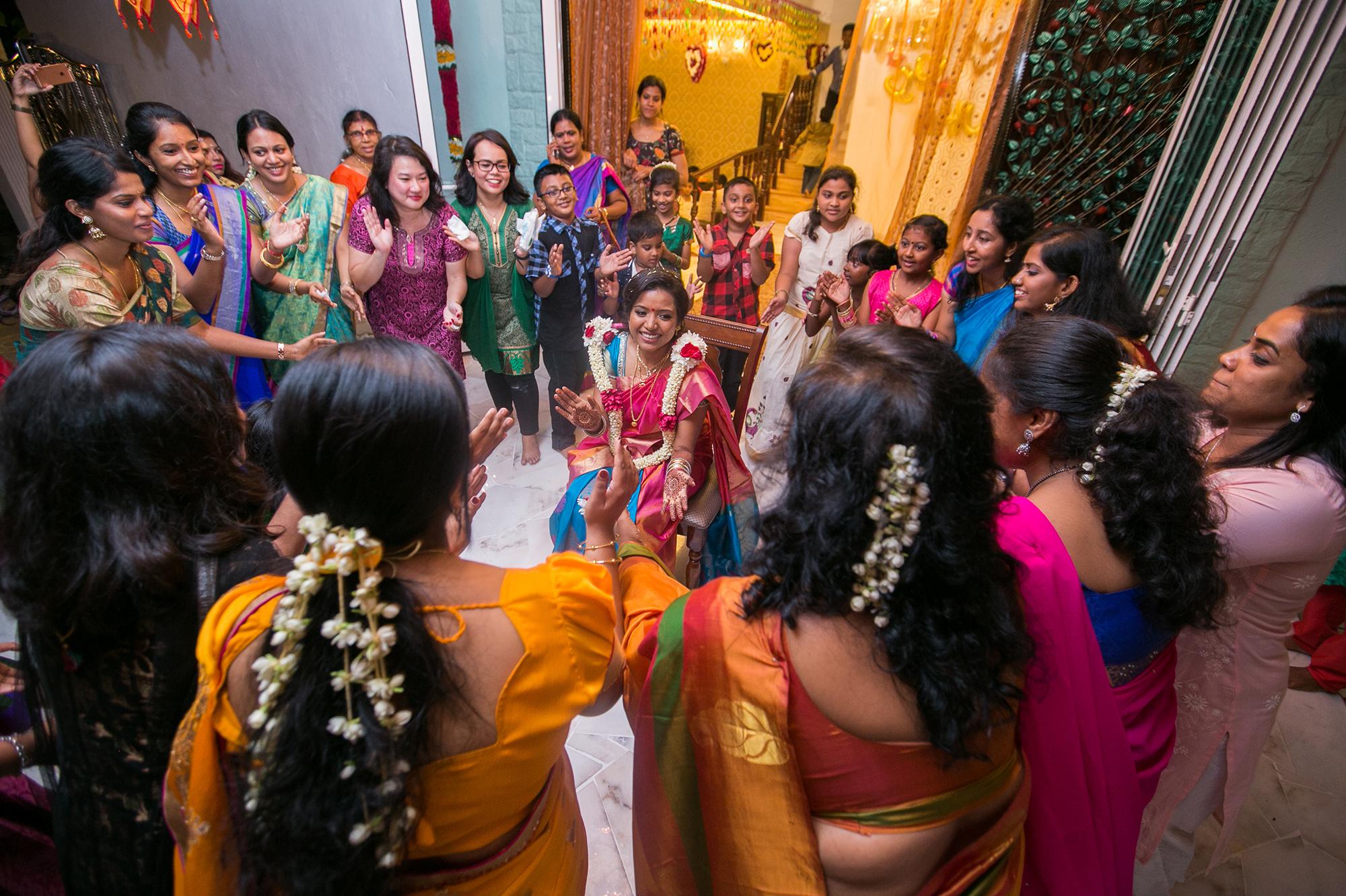 Indian bride dance