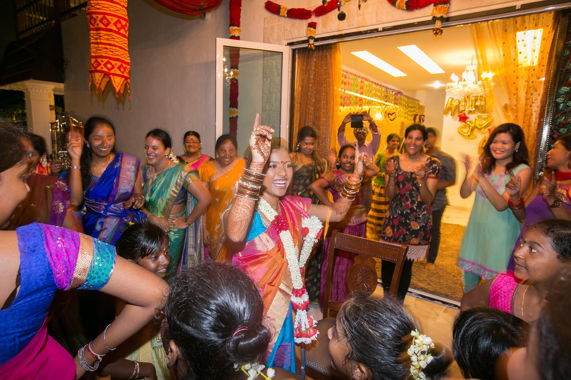 bride dance happy