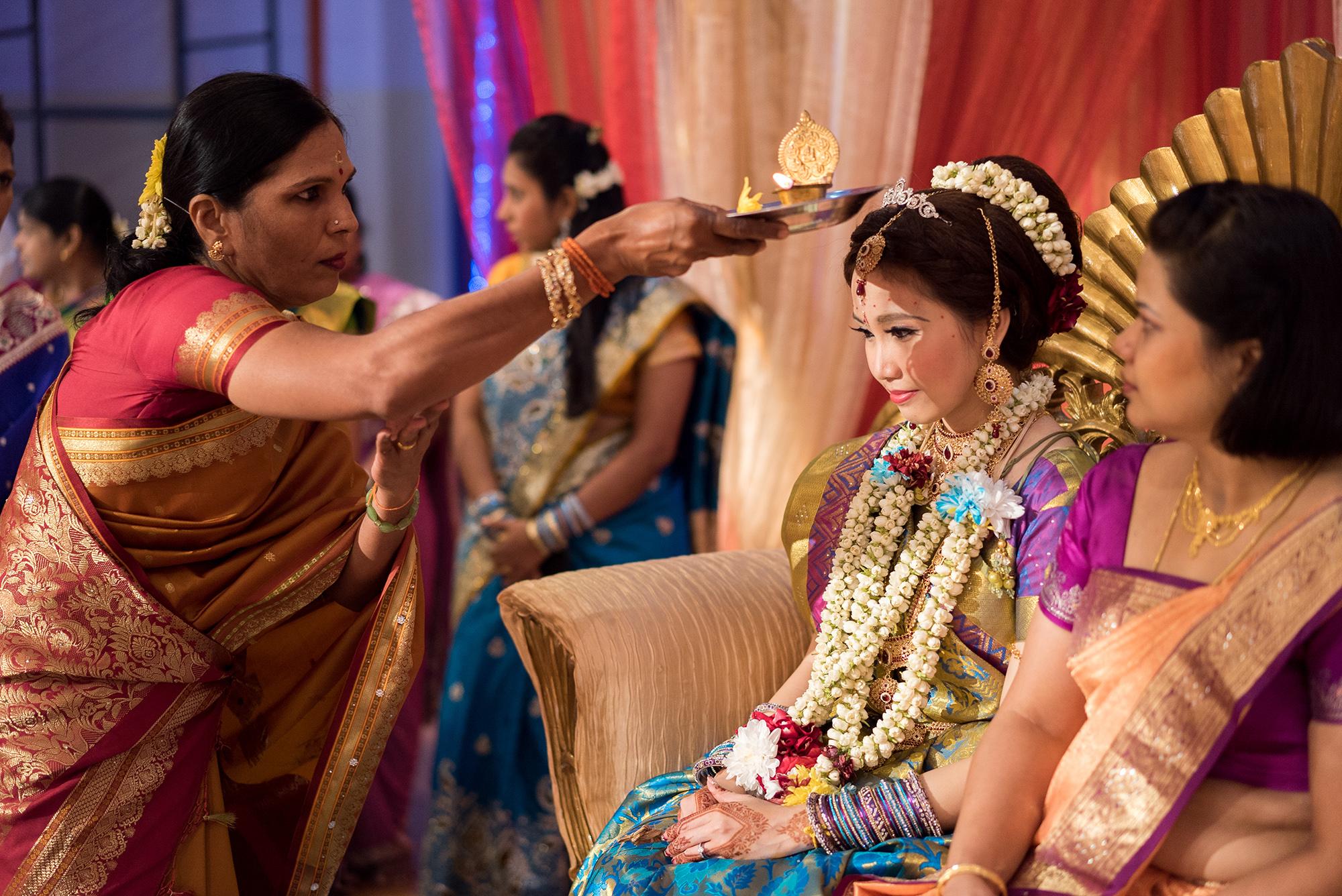 aunt greets bride