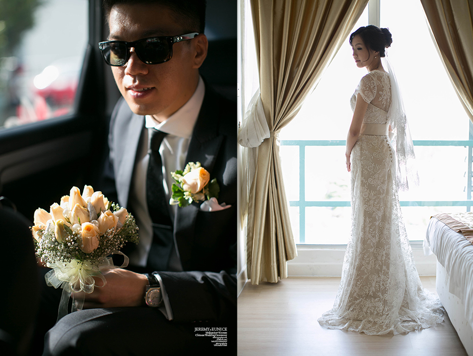 bride and groom in style