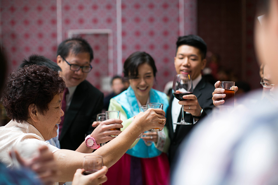 toasting to the guest