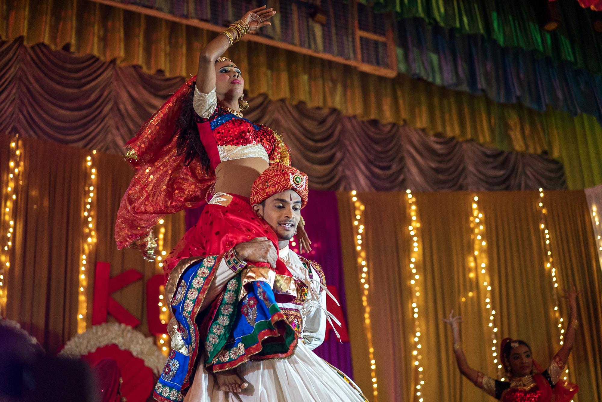 man and women dancing