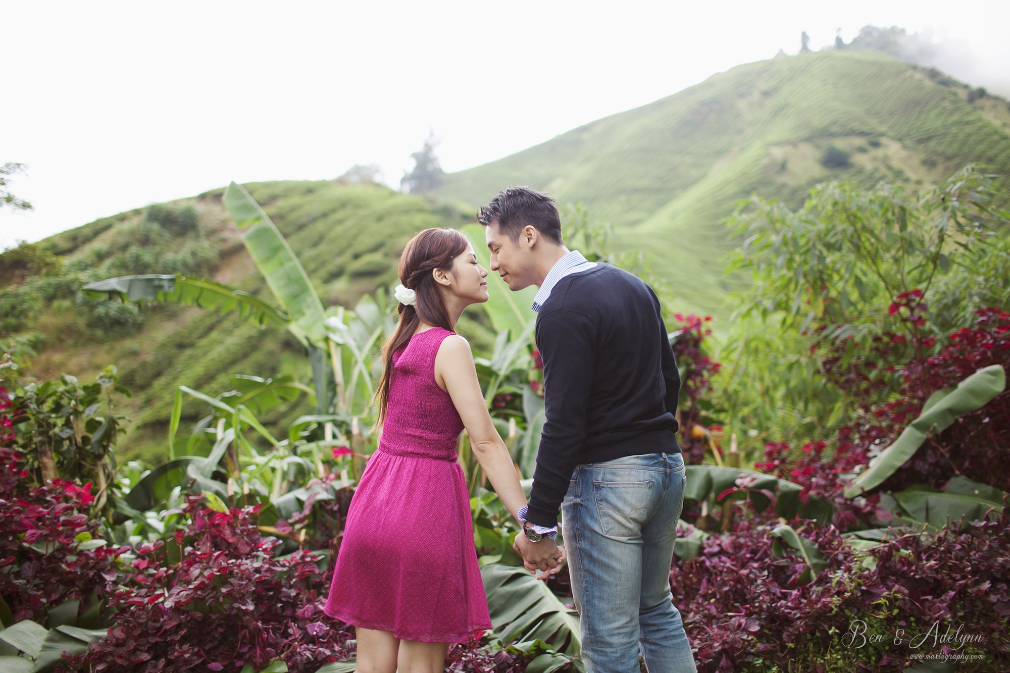 sweet couple at Cameron Highland
